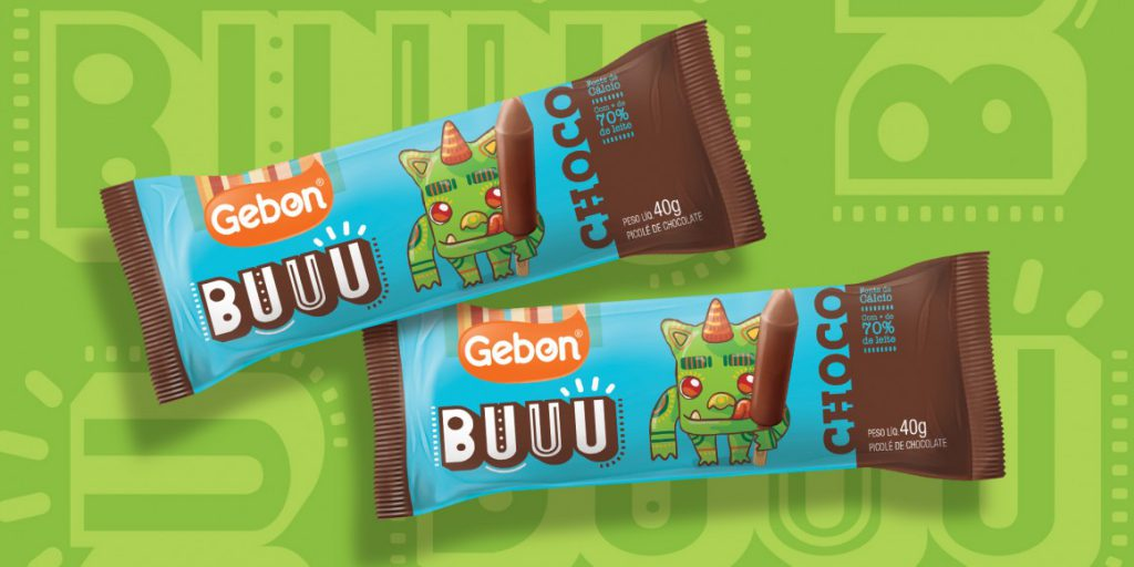 Criação de personagens para a linha de sorvetes Buuu da Gebon. Projeto desenvolvido em conjunto com Matriz Escritório de Desenho.